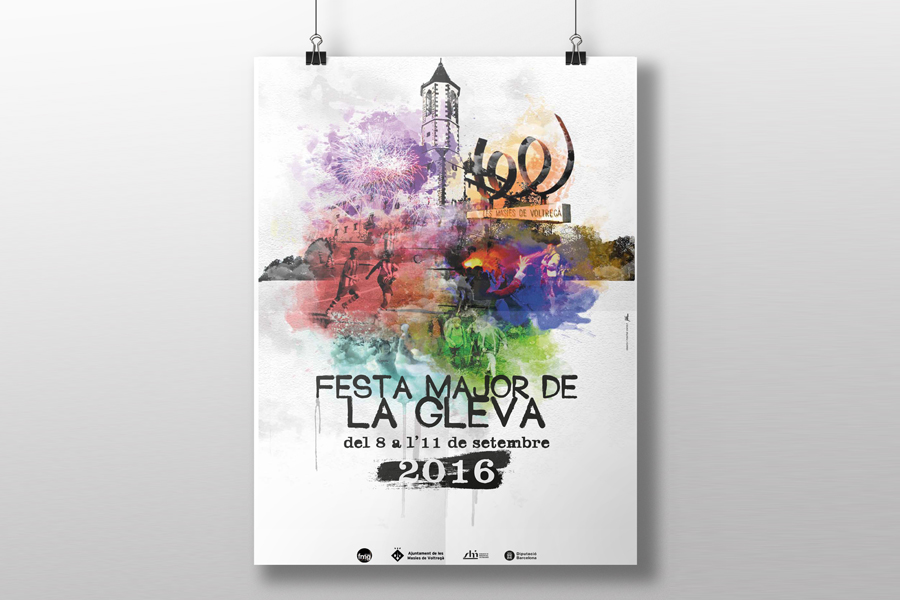 Cartell Festa Major de la Gleva 2016